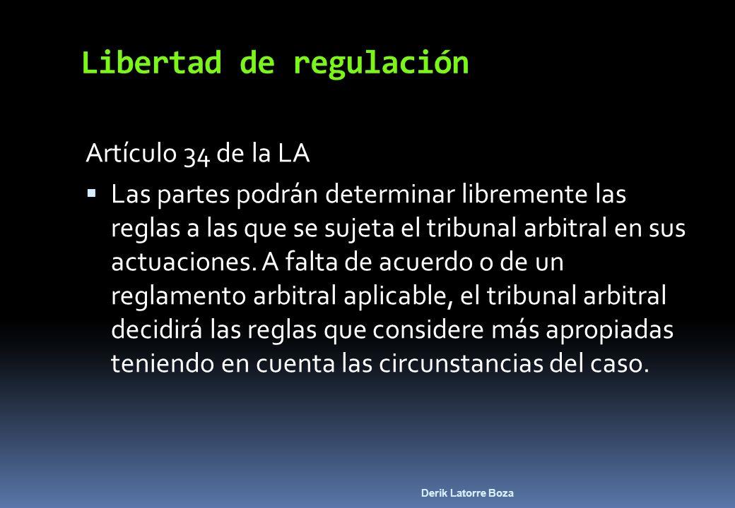 Libertad de regulación