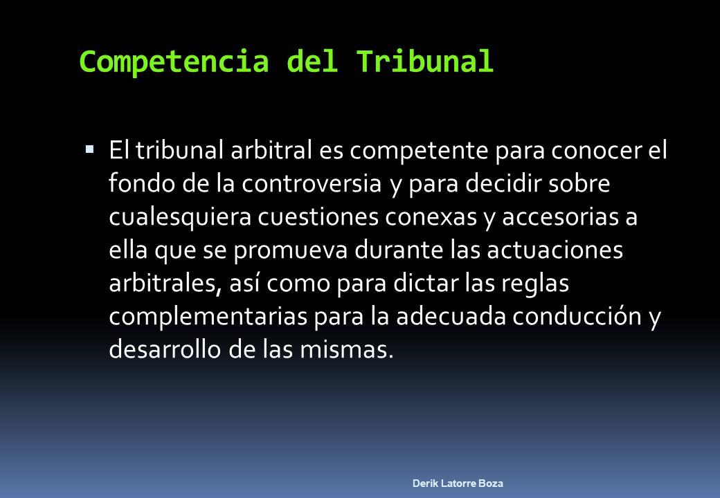 Competencia del Tribunal