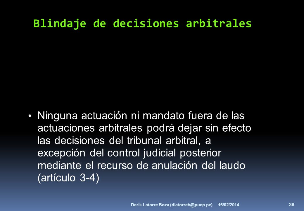 Blindaje de decisiones arbitrales