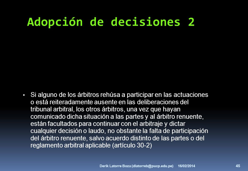 Adopción de decisiones 2