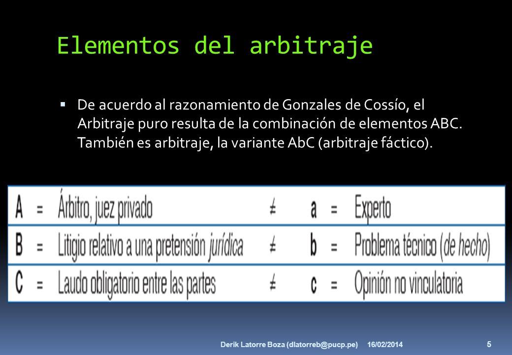 Elementos del arbitraje