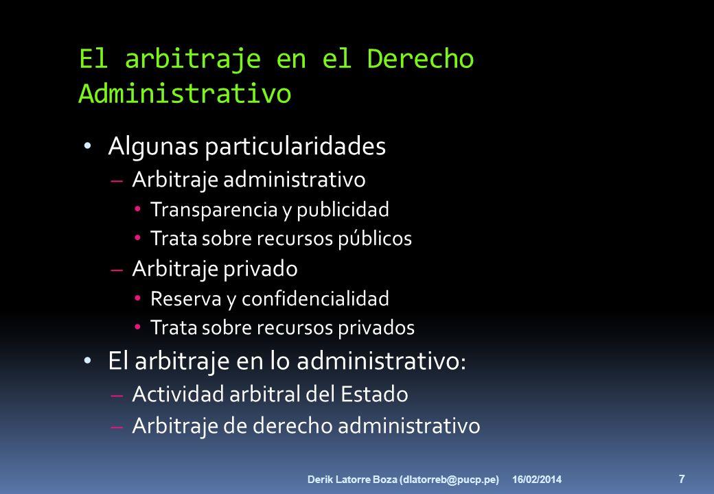 El arbitraje en el Derecho Administrativo