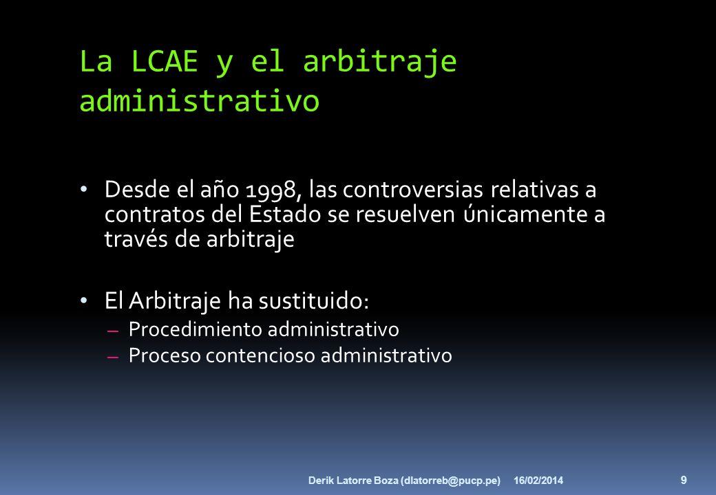 La LCAE y el arbitraje administrativo