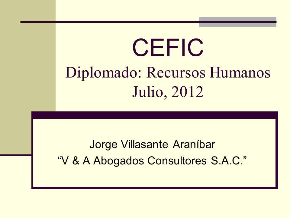 CEFIC Diplomado: Recursos Humanos Julio, 2012