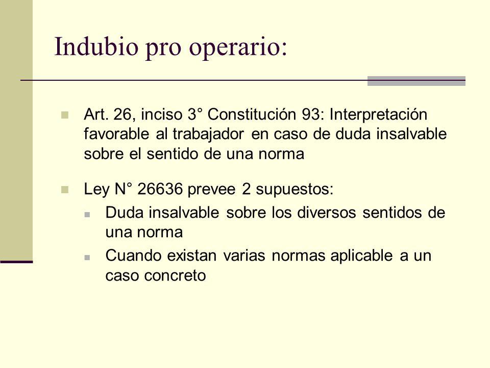 Indubio pro operario: