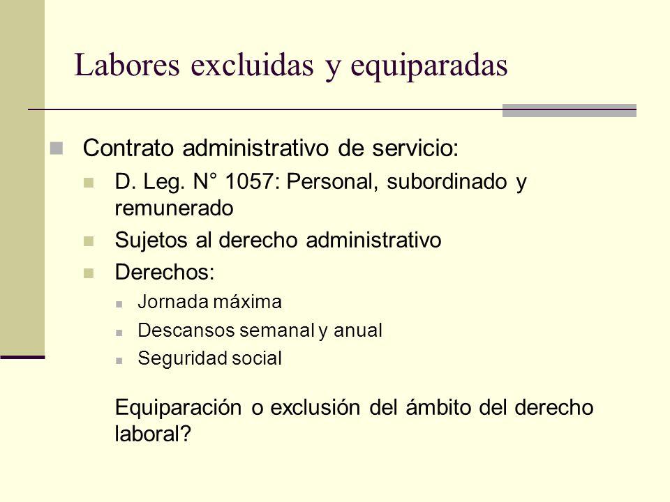 Labores excluidas y equiparadas