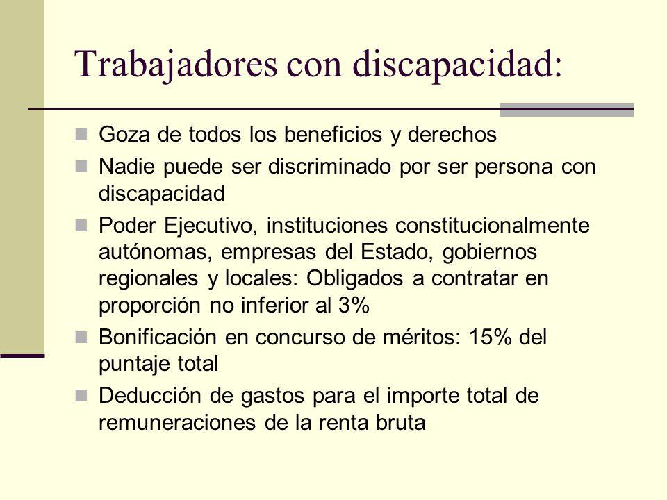 Trabajadores con discapacidad: