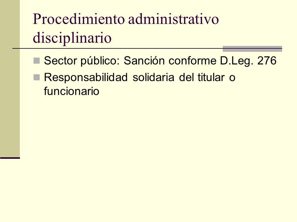 Procedimiento administrativo disciplinario