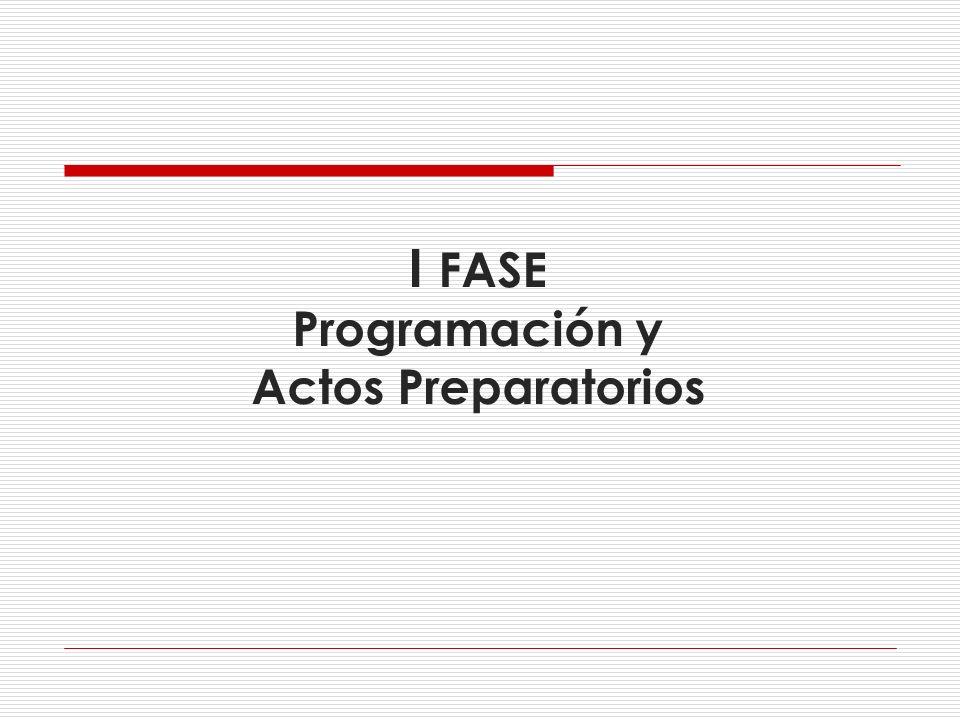 I FASE Programación y Actos Preparatorios