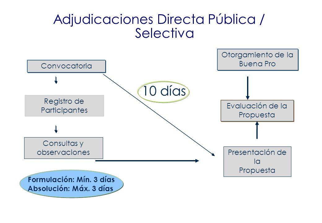 Adjudicaciones Directa Pública / Selectiva