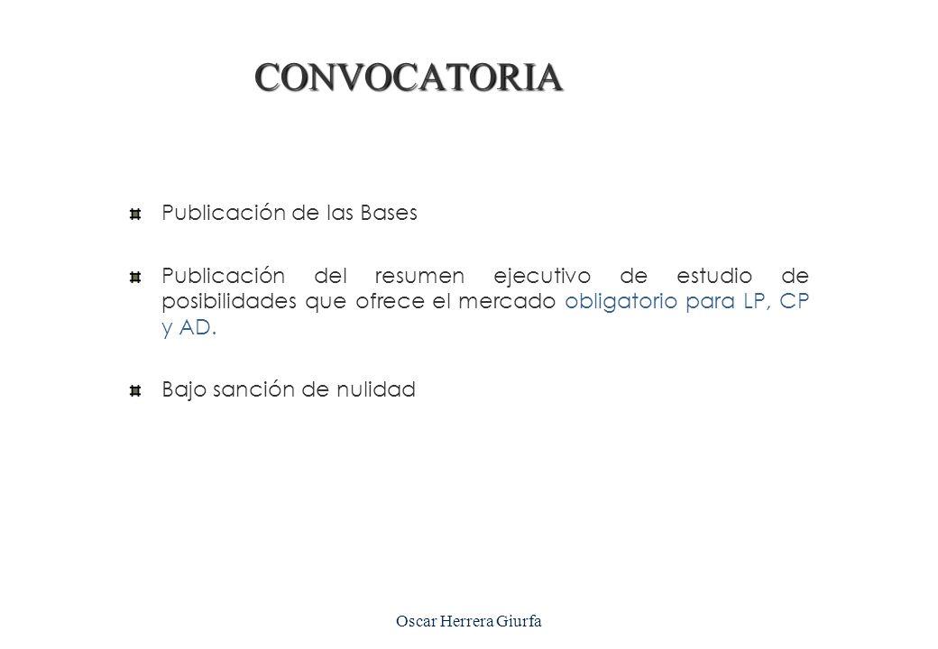 CONVOCATORIA Publicación de las Bases