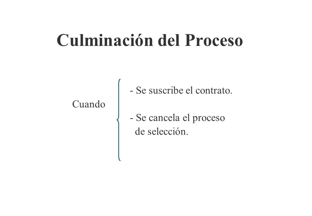 Culminación del Proceso