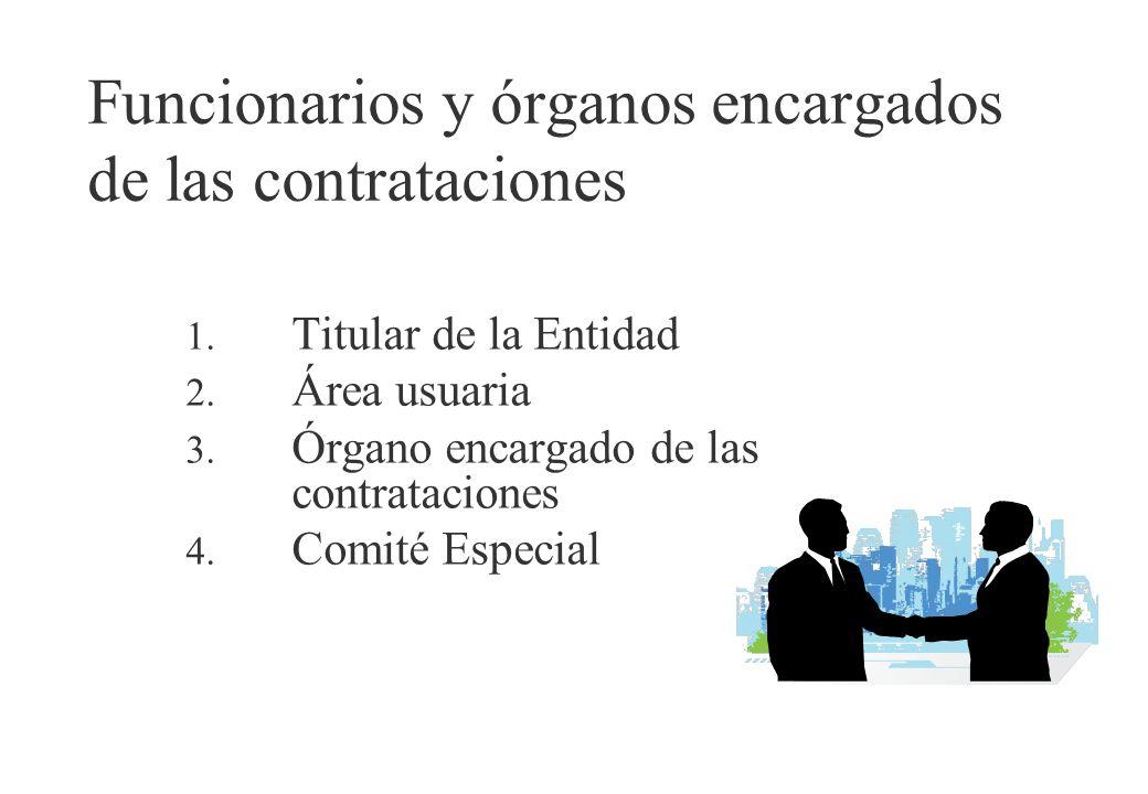Funcionarios y órganos encargados de las contrataciones