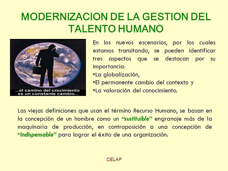 MODERNIZACION DE LA GESTION DEL TALENTO HUMANO