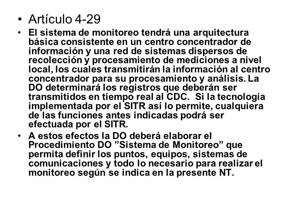 Artículo 4-29