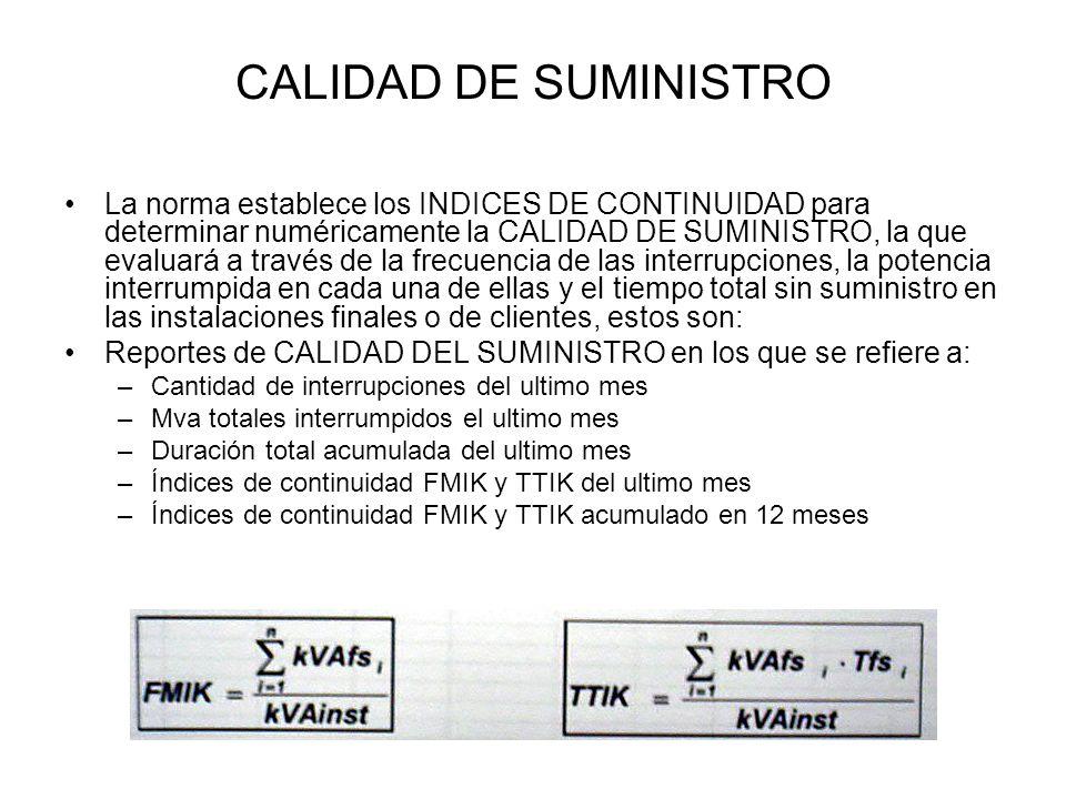 CALIDAD DE SUMINISTRO