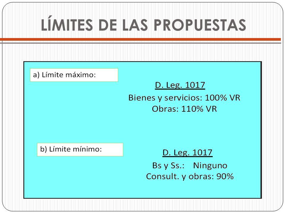 LÍMITES DE LAS PROPUESTAS
