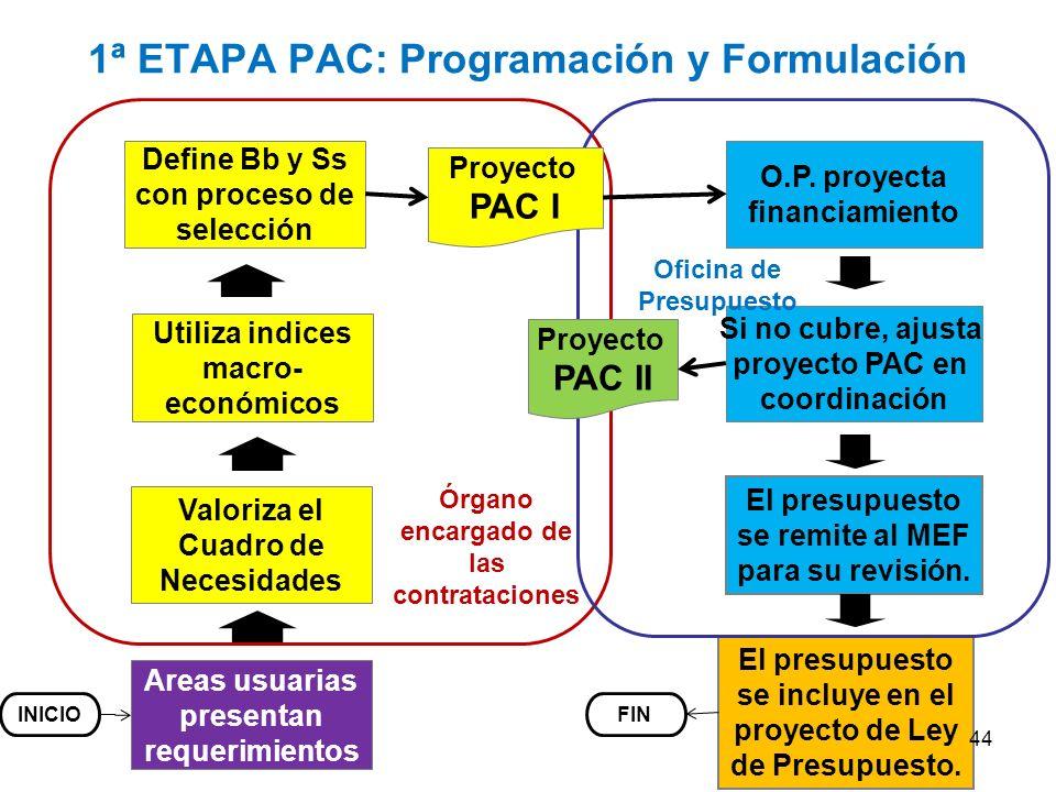 1ª ETAPA PAC: Programación y Formulación