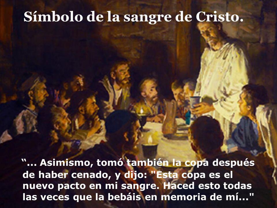 Símbolo de la sangre de Cristo.
