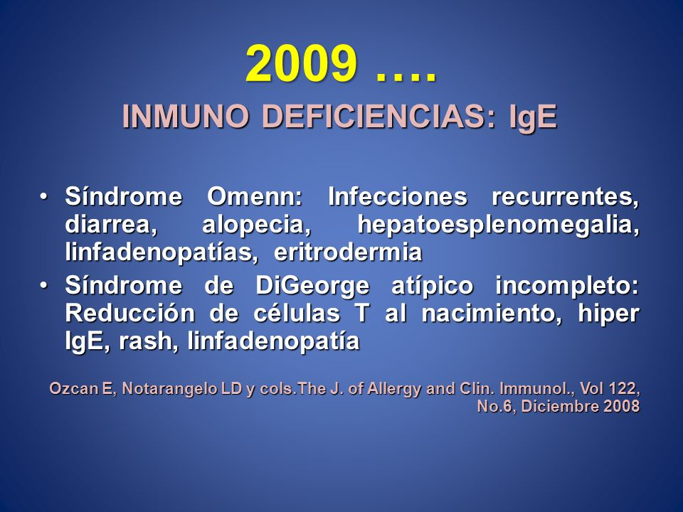 INMUNO DEFICIENCIAS: IgE