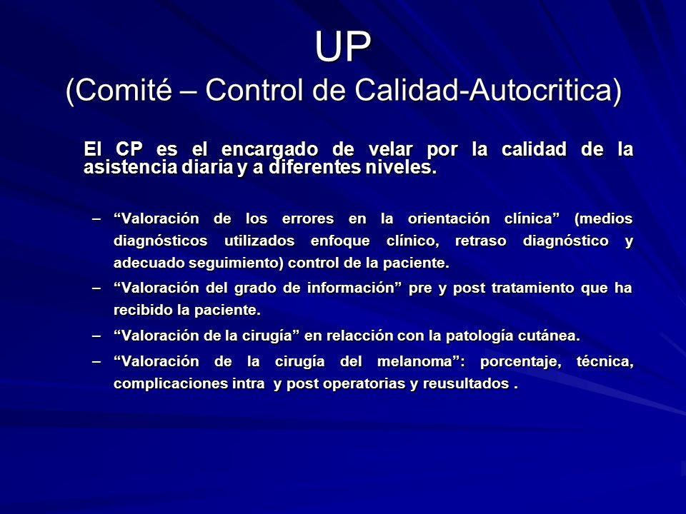 UP (Comité – Control de Calidad-Autocritica)