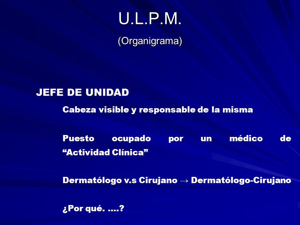 U.L.P.M. (Organigrama) JEFE DE UNIDAD