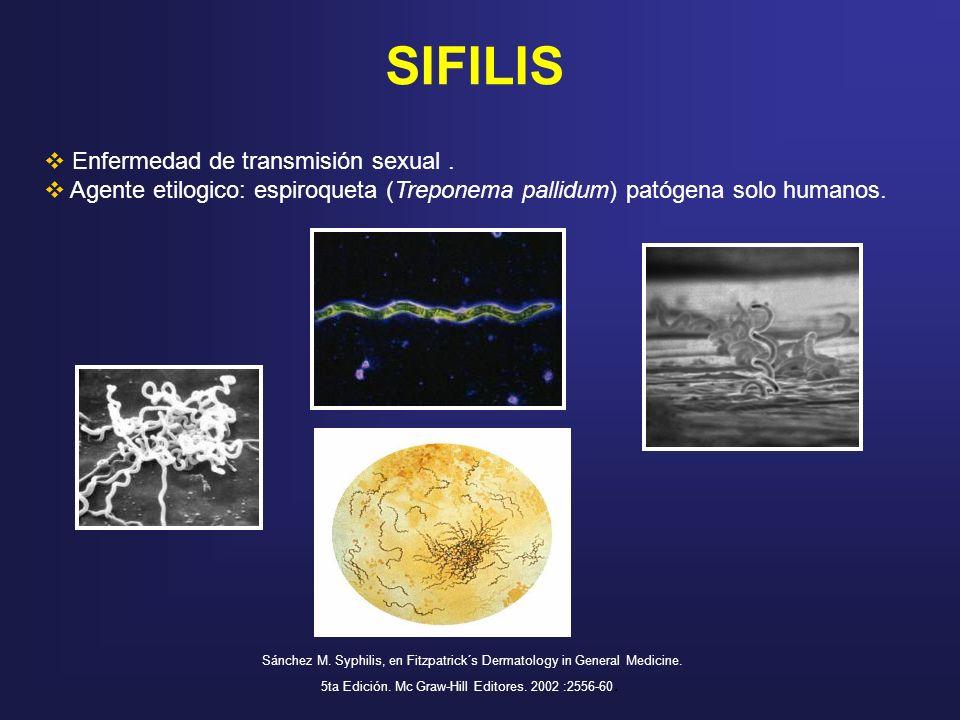 SIFILIS Enfermedad de transmisión sexual .