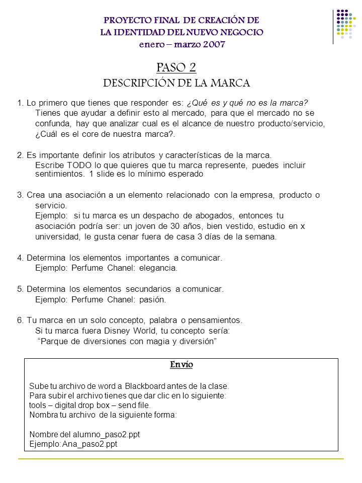 DESCRIPCIÓN DE LA MARCA