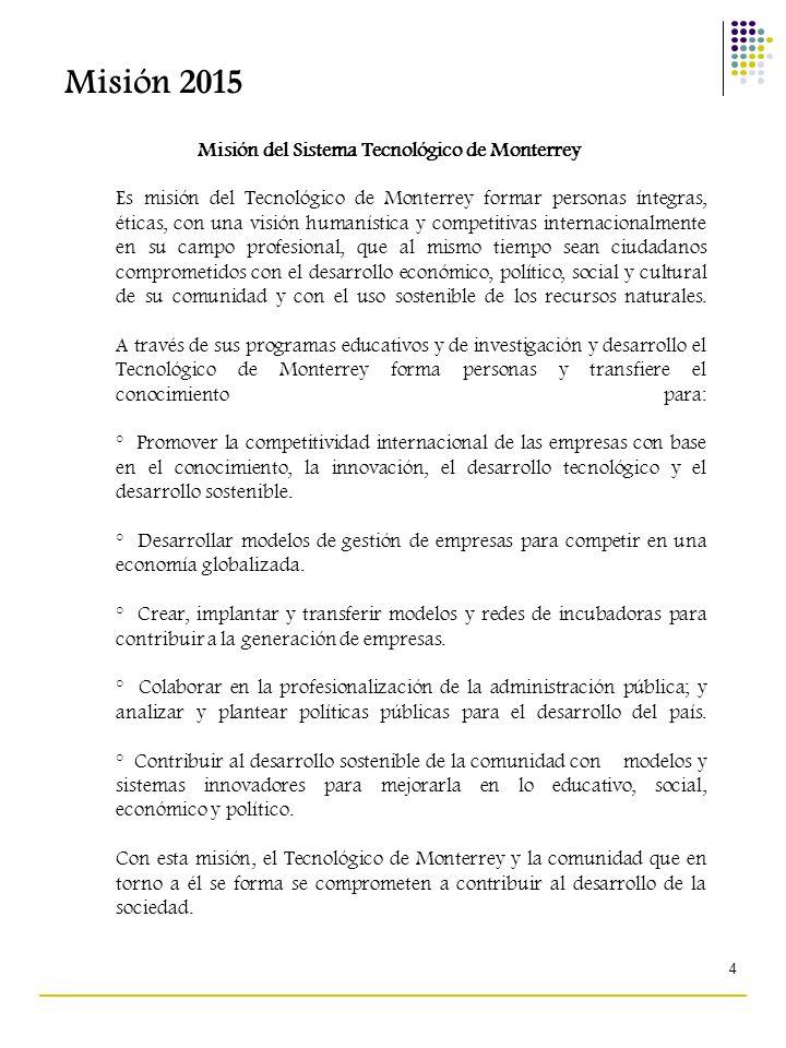 Misión del Sistema Tecnológico de Monterrey