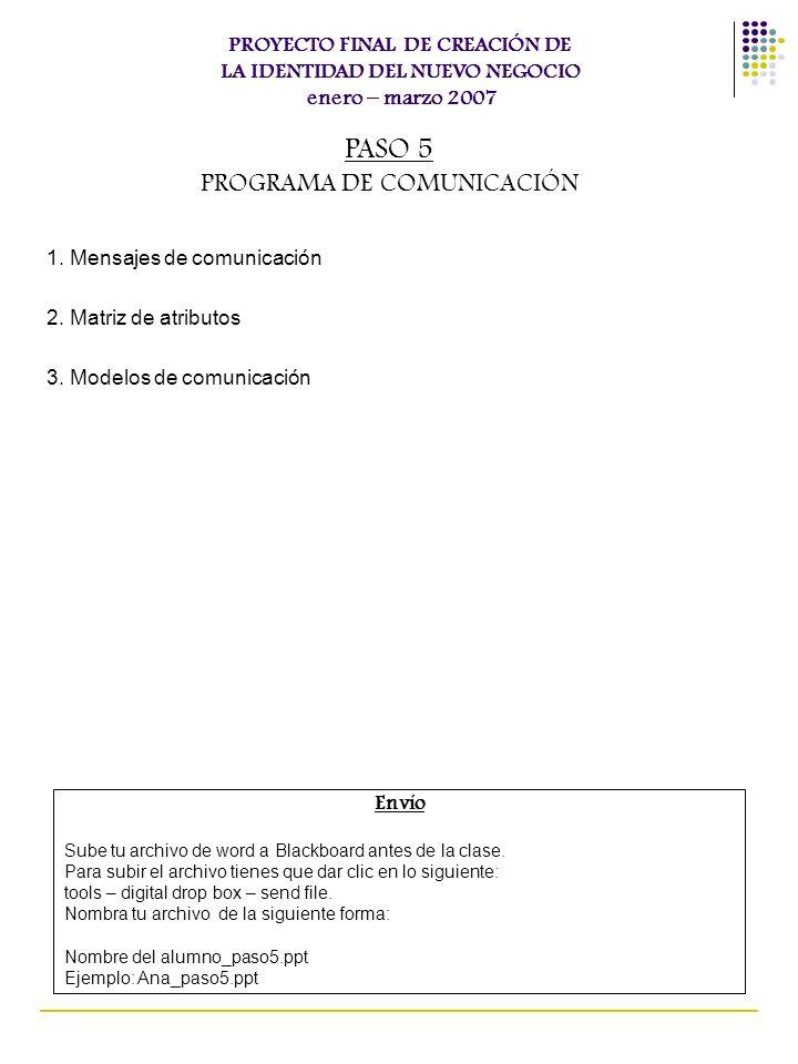PROGRAMA DE COMUNICACIÓN