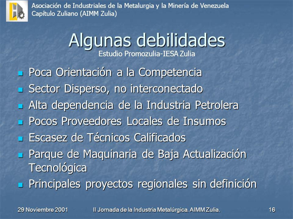 II Jornada de la Industria Metalúrgica. AIMM Zulia.
