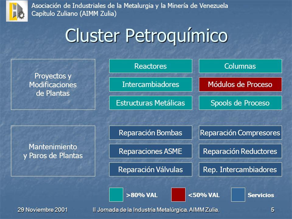 Cluster Petroquímico Proyectos y Modificaciones de Plantas Reactores