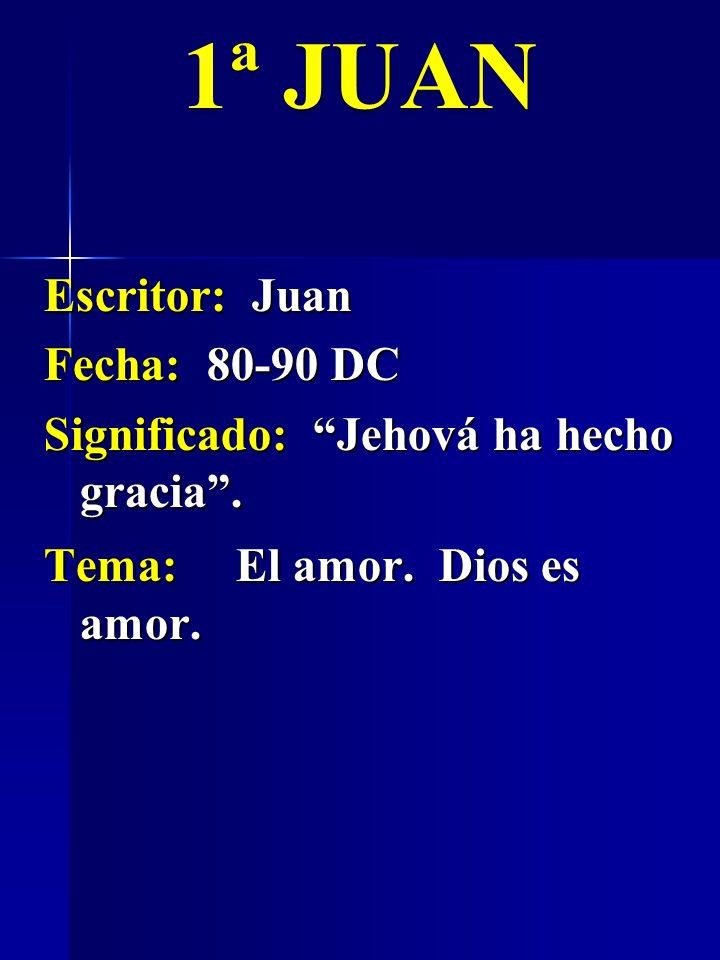 1ª JUAN Escritor: Juan Fecha: 80-90 DC