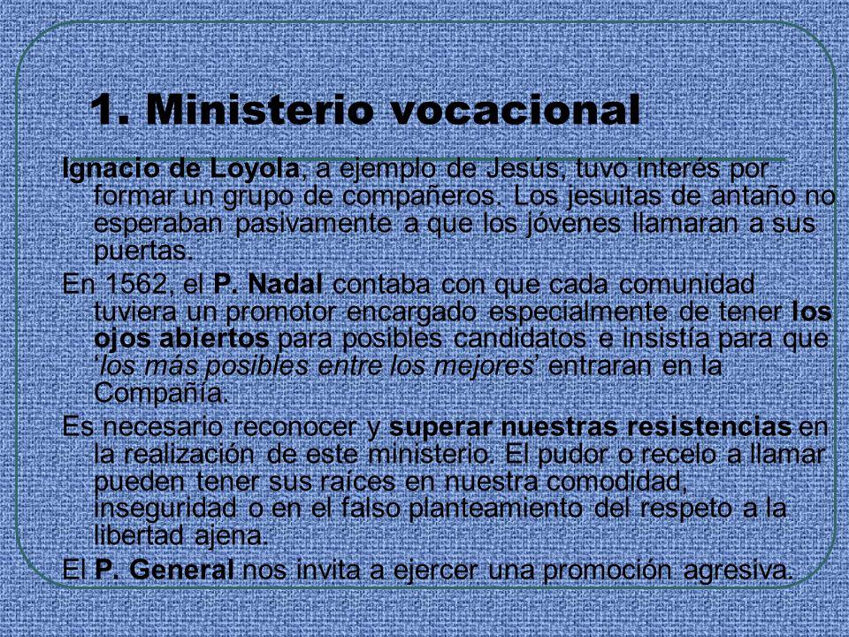 1. Ministerio vocacional