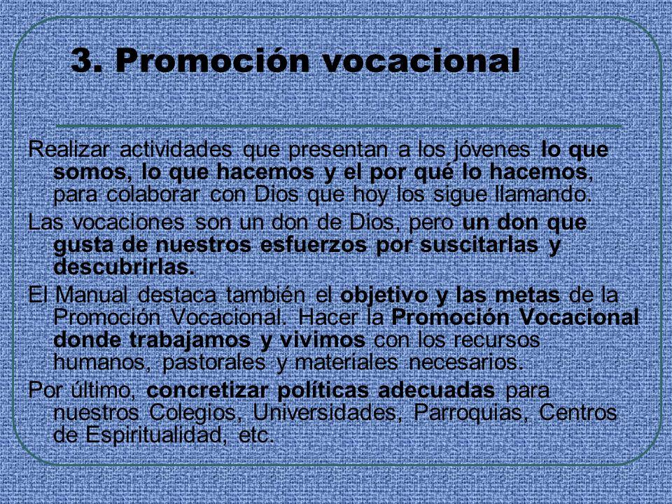 3. Promoción vocacional