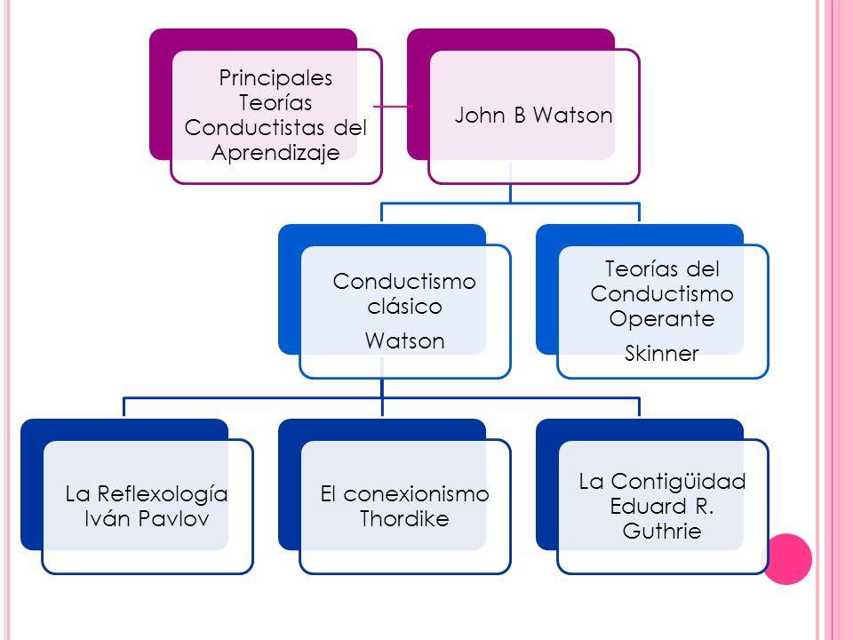 Principales Teorías Conductistas del Aprendizaje John B Watson