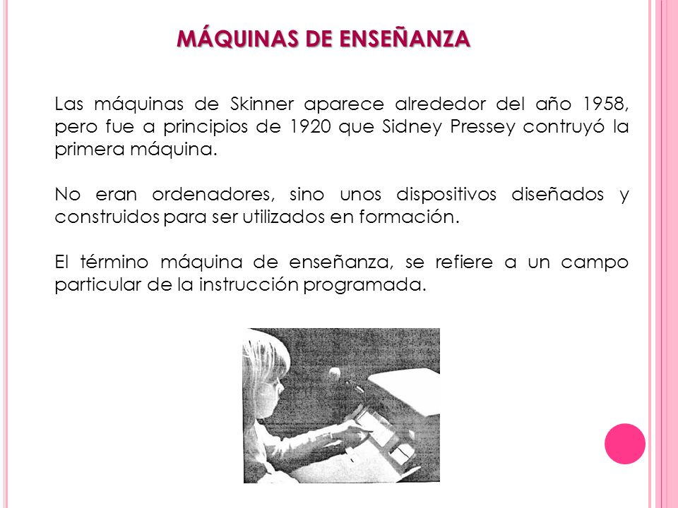 MÁQUINAS DE ENSEÑANZA
