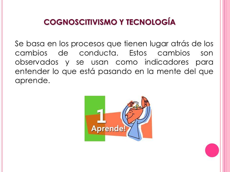 COGNOSCITIVISMO Y TECNOLOGÍA
