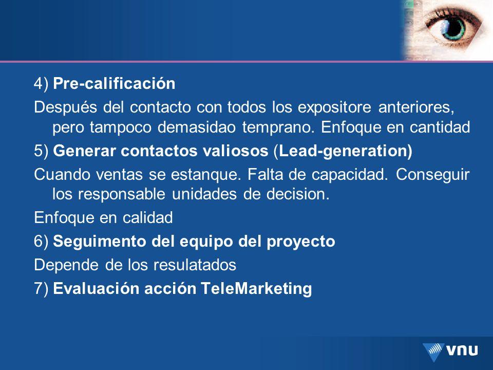 5) Generar contactos valiosos (Lead-generation)