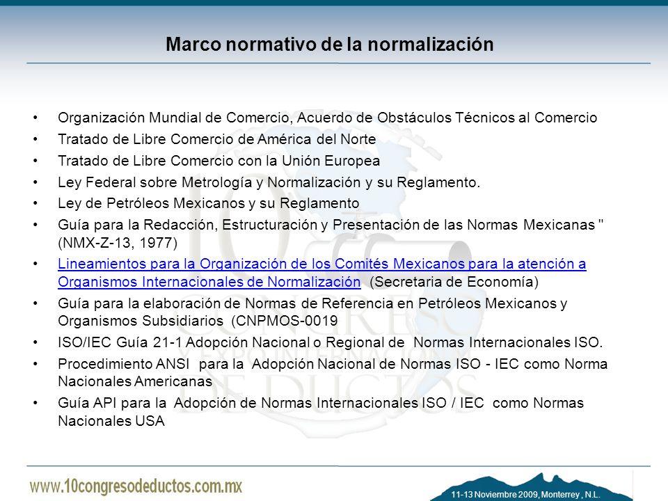 Marco normativo de la normalización