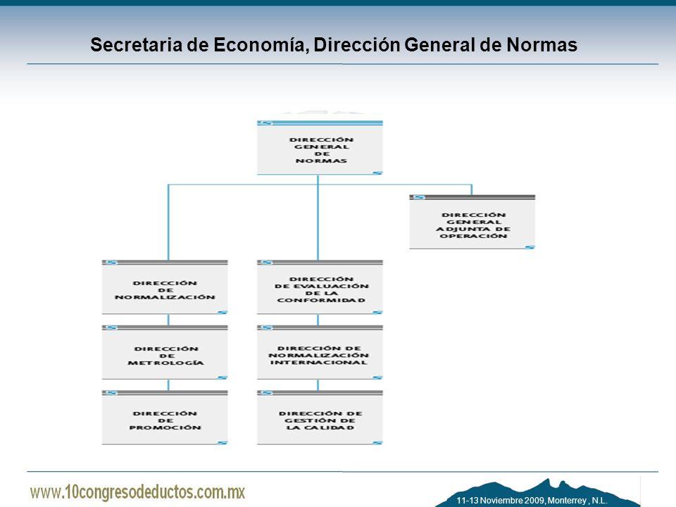 Secretaria de Economía, Dirección General de Normas
