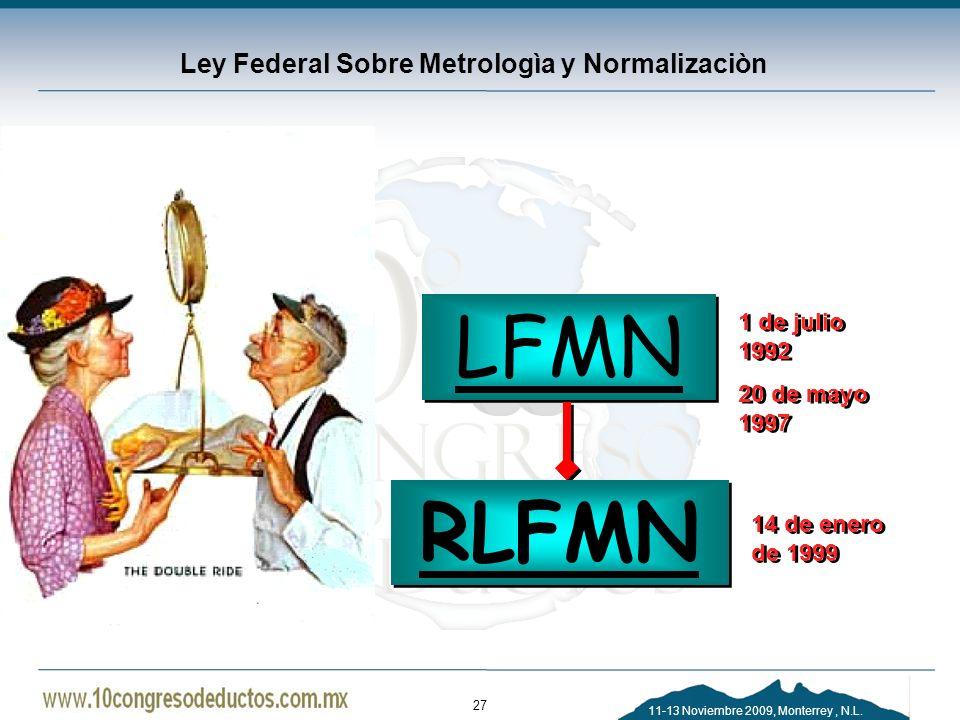 Ley Federal Sobre Metrologìa y Normalizaciòn