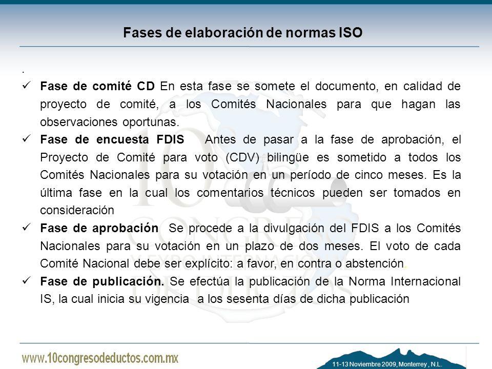Fases de elaboración de normas ISO