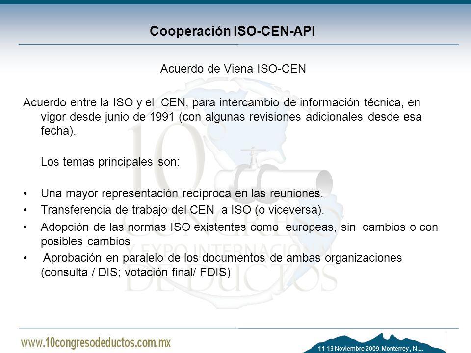 Cooperación ISO-CEN-API