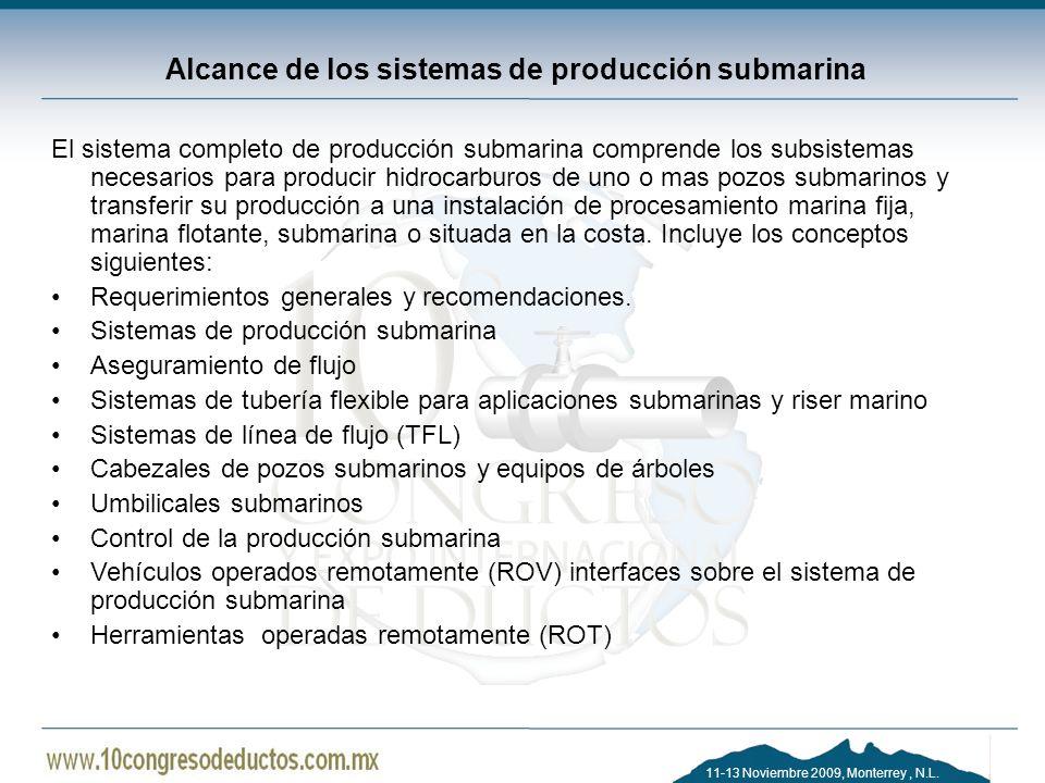 Alcance de los sistemas de producción submarina