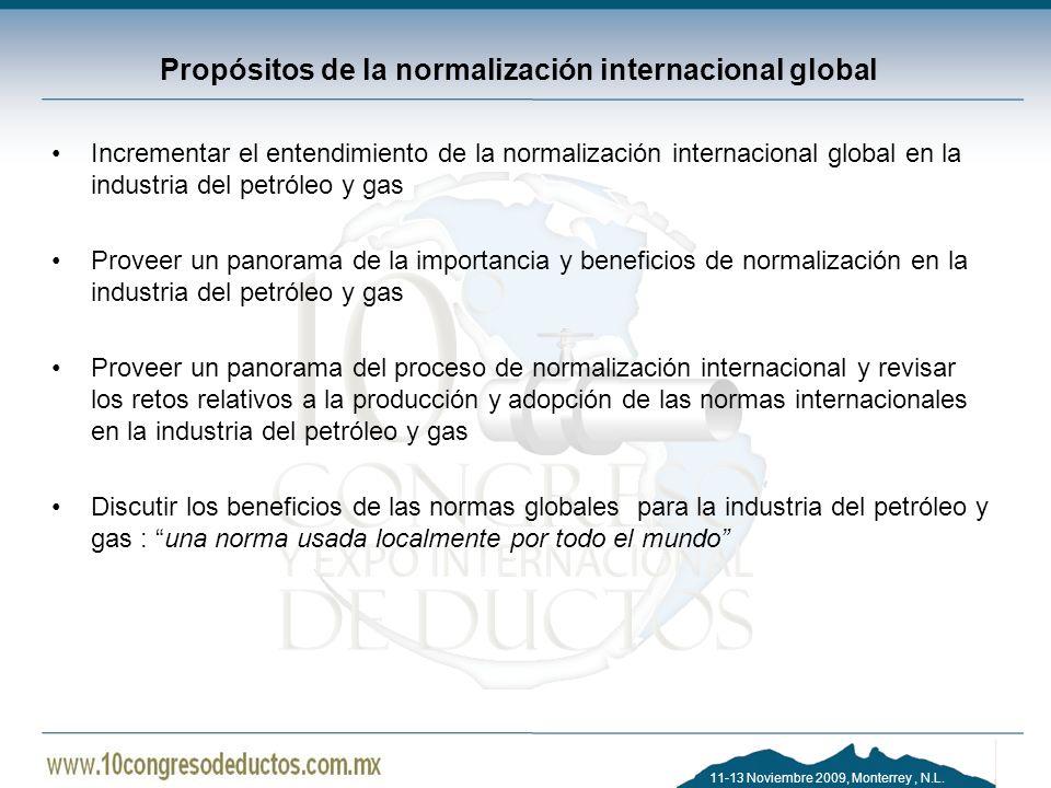 Propósitos de la normalización internacional global