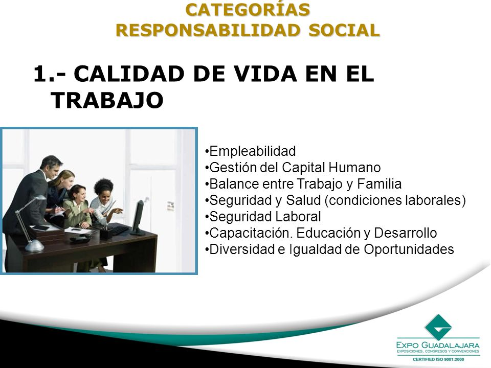 CATEGORÍAS RESPONSABILIDAD SOCIAL