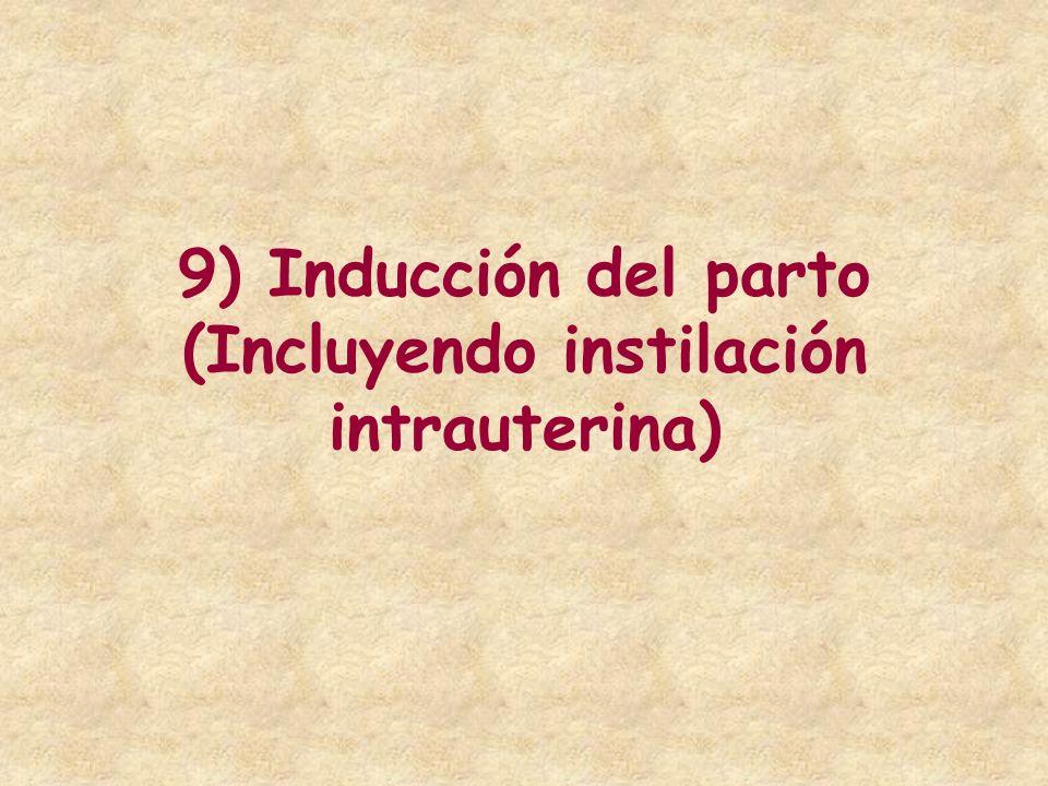 9) Inducción del parto (Incluyendo instilación intrauterina)