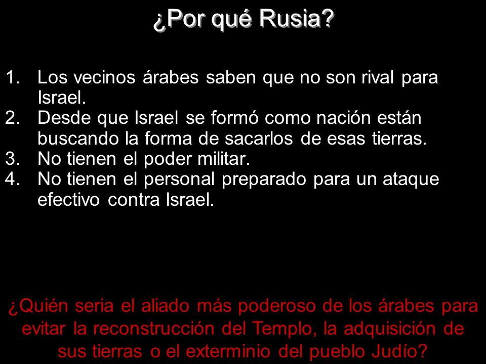 ¿Por qué Rusia Los vecinos árabes saben que no son rival para Israel.