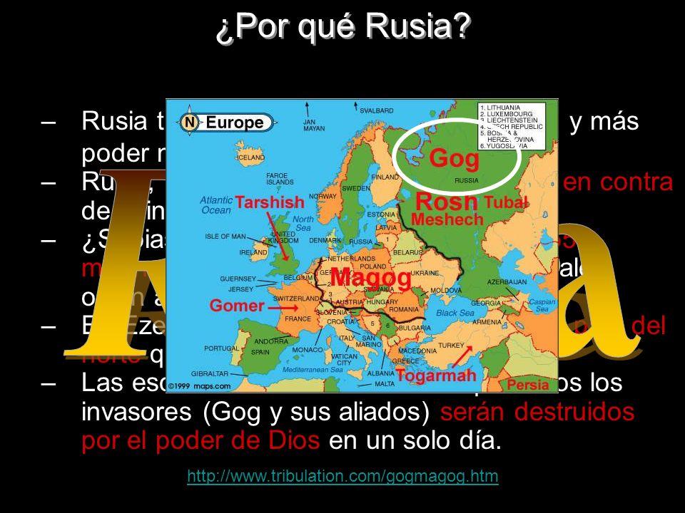 ¿Por qué Rusia Rusia tiene el mayor interés por petróleo y más poder mundial.